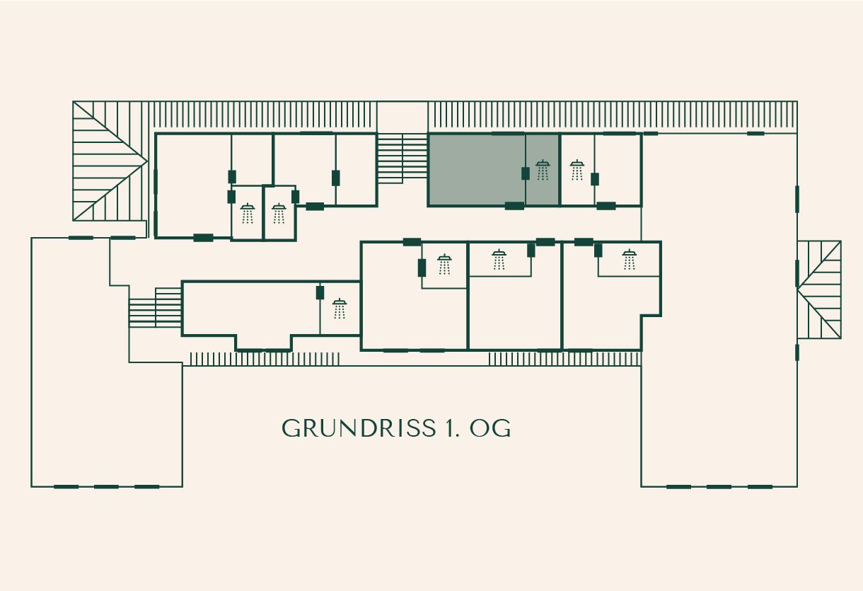 Grundriss Zimmer Birke im Gutshaus Ehmkendorf