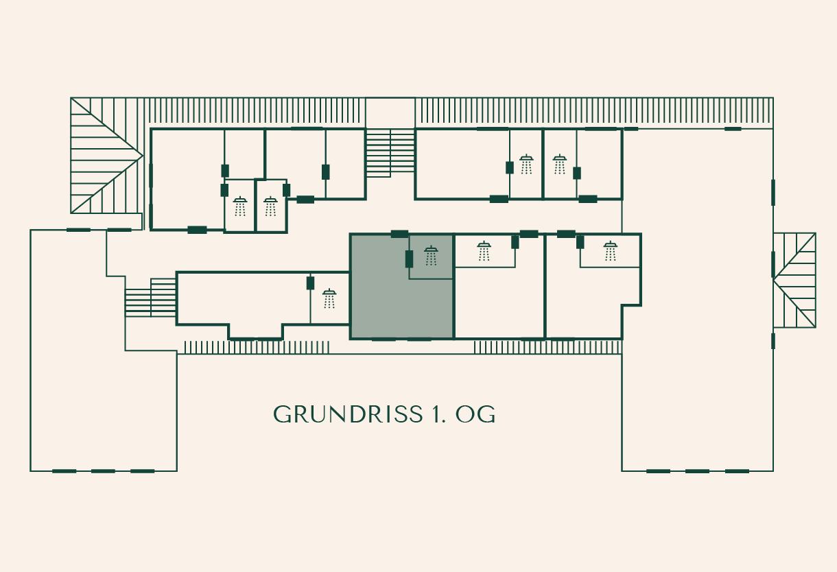 Grundriss Zimmer Buche im Gutshaus Ehmkendorf