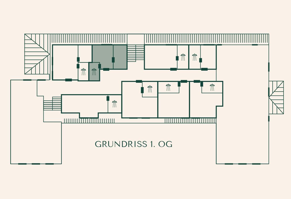 Grundriss Zimmer Esche im Gutshaus Ehmkendorf