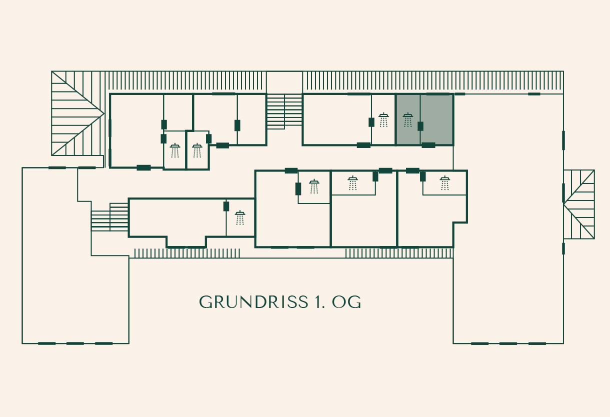 Zimmer Fichte im Gutshaus Ehmkendorf Grundriss