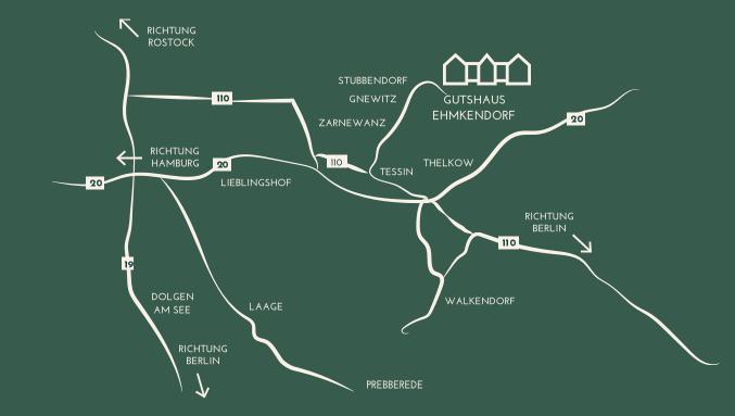Karte Anfahrt Gutshaus Ehmkendorf
