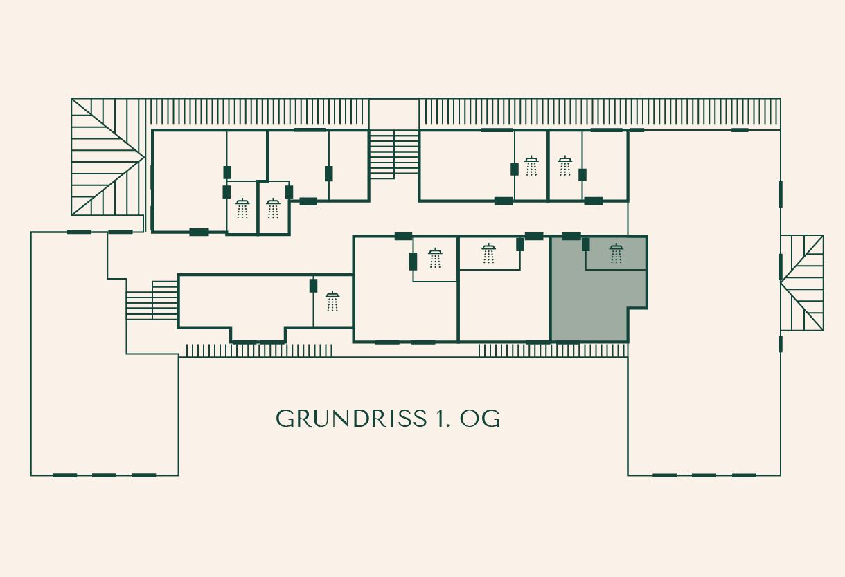 Grundriss Zimmer Kastanie im Gutshaus Ehmkendorf