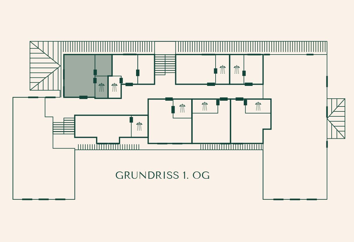 Grundriss Zimmer Kirsche im Gutshaus Ehmkendorf