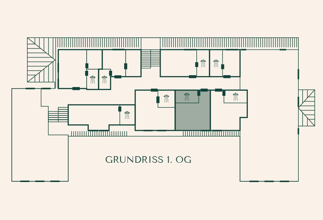 Grundriss Zimmer Lärche im Gutshaus Ehmkendorf
