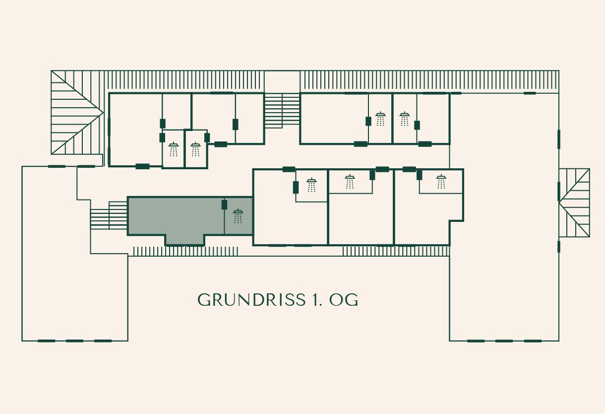 Grundriss Zimmer Linde im Gutshaus Ehmkendorf